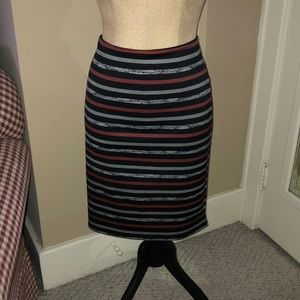 Stretchy Skirt in Black and Red